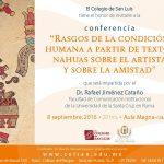 El COLSAN te invita a la conferencia del Dr. Rafael Jimenez Cataño